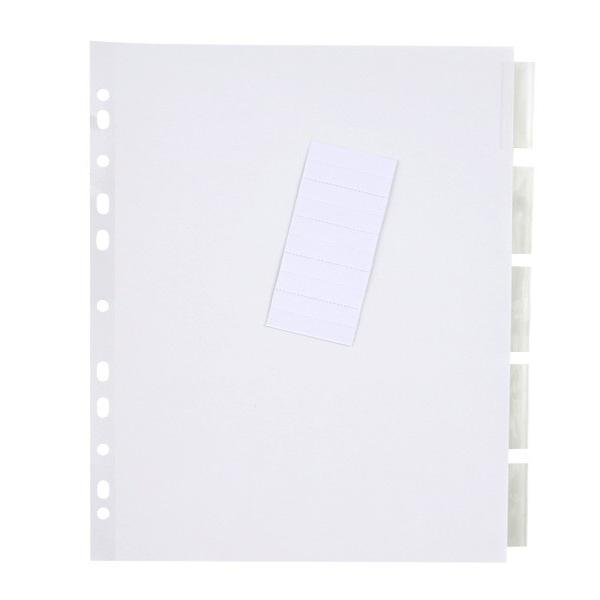 Tab Template For Dividers Dividers 5-tab With Insert