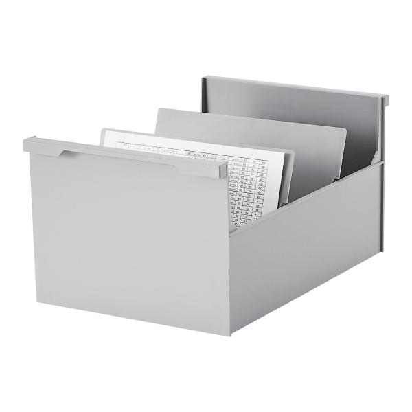 lyreco switzerland boite fiches styro co a5 sans couvercle gris 30. Black Bedroom Furniture Sets. Home Design Ideas