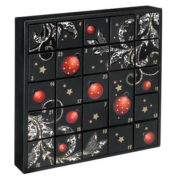 lyreco switzerland adventskalender leer black style 34x6x34 cm. Black Bedroom Furniture Sets. Home Design Ideas