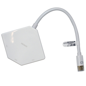 Mini DisplayPort HDMI + DVI + VGA adapteri